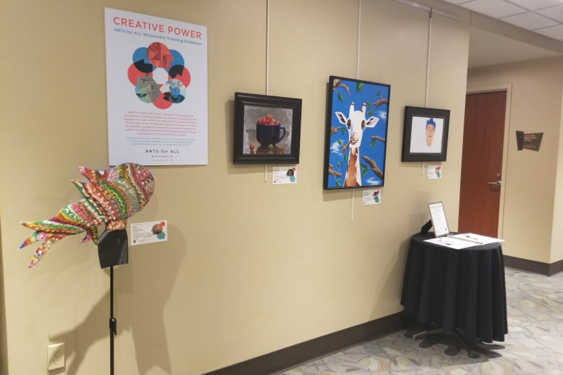 Selection of exhibit materials at another venue