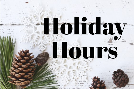 Graphic: Holiday hours