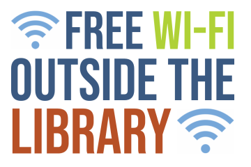 Free wi-fi outside the library